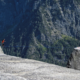 by Troy Elliott - Sports & Fitness Climbing ( climbing, yosemite, slackline, rocks )