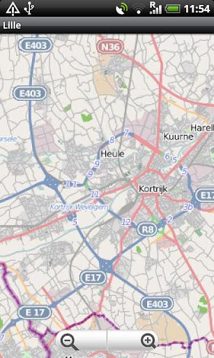 Lille Kortrijk Oudenaarde Map