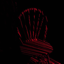Laser Painted Chair by Jeremy Fulton - Abstract Light Painting ( chair, light painting, night, laser, light, night shot )