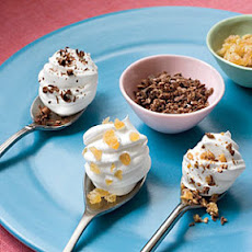 Whipped Topping Dollops On Spoons