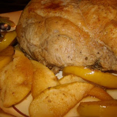 Roast Pork With Apple Mustard Glaze