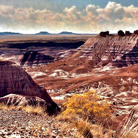 Mesa Valley, Painted Desert, Arizona by Tim Hall - Landscapes Deserts ( petrified forest, geo strata, mesas, desert, mesa, painted desert, national parks,  )