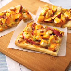 Apple-Jack Chicken Pizza with Caramelized Onions