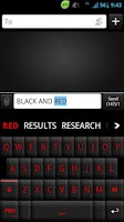 Screenshot of GO Keyboard Black Red Theme