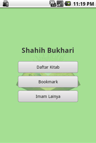 Screenshot #1 of Shahih Bukhari Indonesia / Android