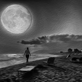 Moon walker by Bob Rawlinson - Digital Art Things ( crete )