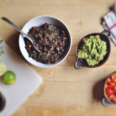 Beans and Greens Tacos with Fresh Guacamole