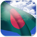 3D Bangladesh Flag + icon
