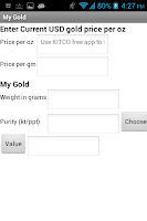 Screenshot of MyGold