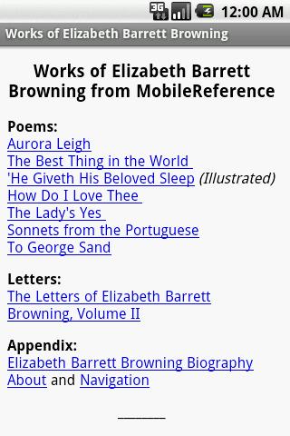 Works of Elizabeth B. Browning
