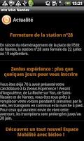 Screenshot of oto Vélo Nantes