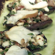 Portobello Stuffed with Sausage, Spinach and Smoked Mozzarella