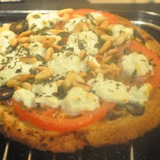 Goat Cheese, Tomato, and Basil Pizza