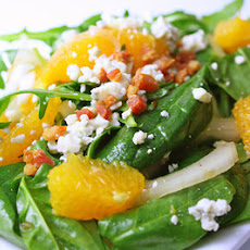 Spinach and Arugula Salad with Orange Vinaigrette
