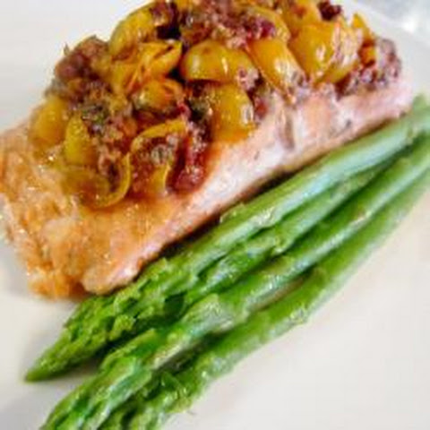Salmon Baked In A Foil Parcel With Green Beans And Pesto Recept ...