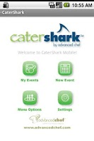 Screenshot of CaterShark Catering App