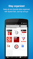 Screenshot of Opera Mini web browser Android