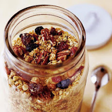 Crunchy Granola With Berries & Cherries