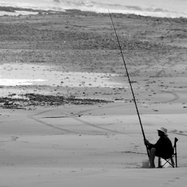 Lonely fisherman ...  by Desiree Havenga - Sports & Fitness Other Sports