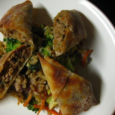 Baked Turkey Egg Rolls