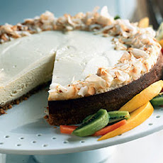 Tropical Cheesecake with Coconut Shortbread Crust