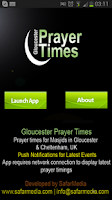 Screenshot of Gloucester Prayer Time