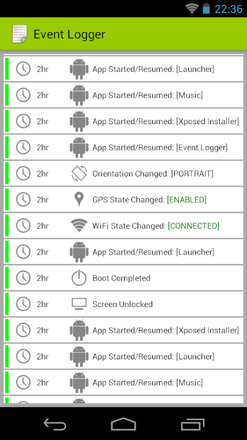 Event Logger Screenshot 0
