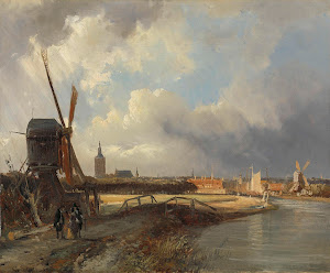 RIJKS: Cornelis Springer: View of The Hague 1852