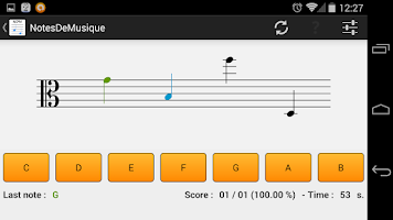 Screenshot of NotesDeMusique (Music Notes)