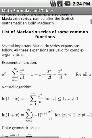 【免費書籍App】Math Formulas and Tables-APP點子