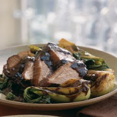 Allspice Duck with Braised Bok Choy