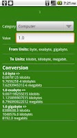 Screenshot of Auto unit converter
