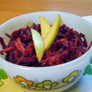 Shredded Beet, Apple, and Currant Salad with Apple Vinaigrette