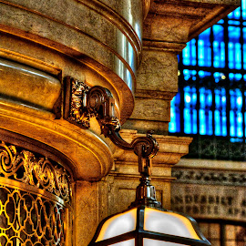 27 by Gary Aidekman - Buildings & Architecture Architectural Detail ( train station, grand central terminal, ticket window, architectural detail, new york city )