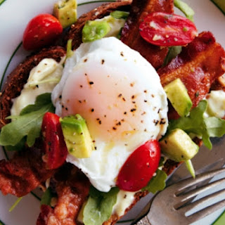 Eggs Benedict BLT With Avocado-Tomato Relish
