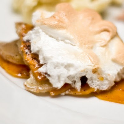 Sweet Potato Sumac Gratin with Meringue