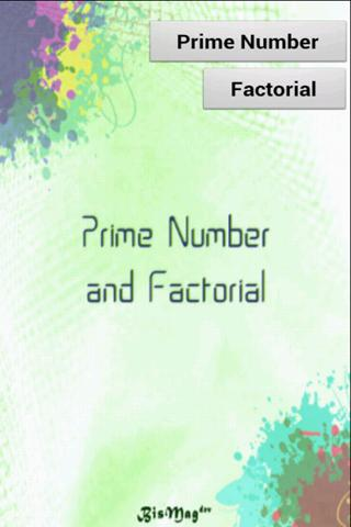 Prime Number and Factorial