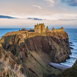 Dunnottar Castle (by Martin Ziaja) by Martin Ziaja - Buildings & Architecture Decaying & Abandoned ( scotland, north sea, sunset, dunnottar, castle, martin ziaja, aberdeen, stonehaven )