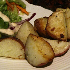 Crispy Garlic Lemon Potatoes
