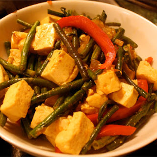 Long Beans and Tofu Stir Fry