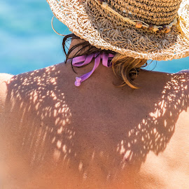 Hat shadow on her shoulders by Cesare Morganti - People Body Parts
