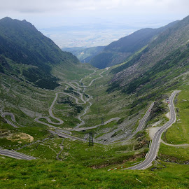 Transfagarasan Road by Martin Vanek - Transportation Roads ( fagaras, romania, transfagarasan road, road, curves, best road in the world, land, device, transportation )