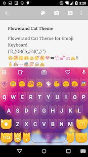 Flower Emoji Keyboard - screenshot