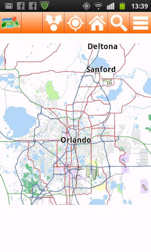 Orlando Offline mappa Map