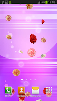 Screenshot of Carnation Live Wallpaper