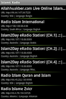 Screenshot of Islamic Radio Pro