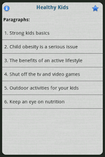Healthy Kids - screenshot