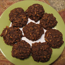 Soft Chocolate-Almond Oatmeal Cookies