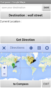 Compass + Google Maps - screenshot
