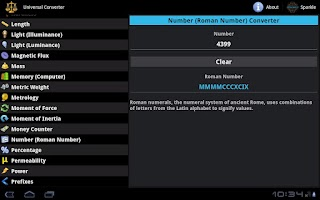Screenshot of Universal Converter for Tablet